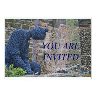 Fisherman Sculpture Invitation