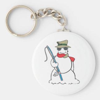 fisherman snowman keychain