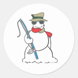 fisherman snowman stickers