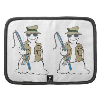 Fisherman snowman with vest folio planner