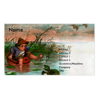 Fisherman Startled by Turtle Business Card
