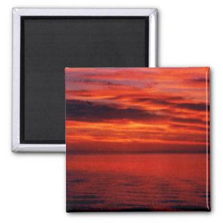 Fisherman Sunset Photo Fridge Magnet