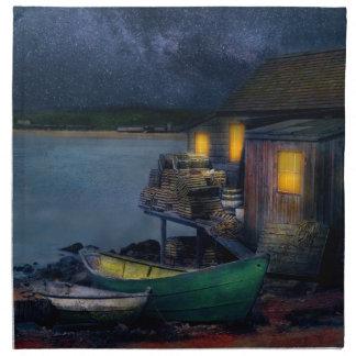 Fisherman - The Fisherman's Cabin 1915 Napkin