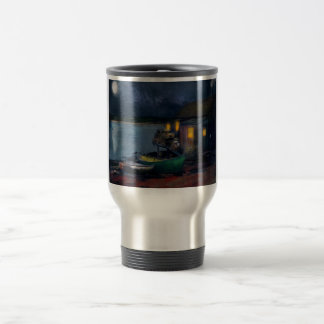 Fisherman - The Fisherman's Cabin 1915 Travel Mug