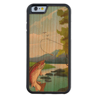 Fisherman Trout Fly Fishing Carved® Cherry iPhone 6 Bumper Case
