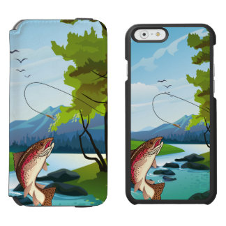 Fisherman Trout Fly Fishing iPhone 6/6s Wallet Case