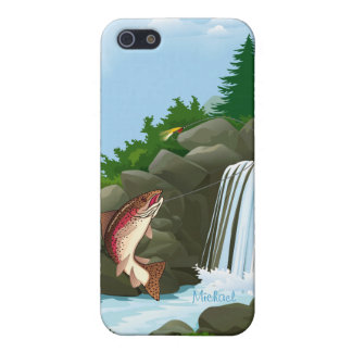 Fisherman Waterfall Trout Fly Fishing iPhone 5 Cases
