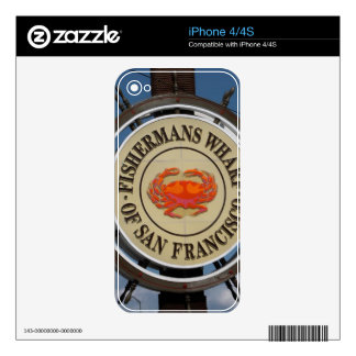 Fisherman Wharf Skin San Francisco for Iphone iPhone 4S Decal