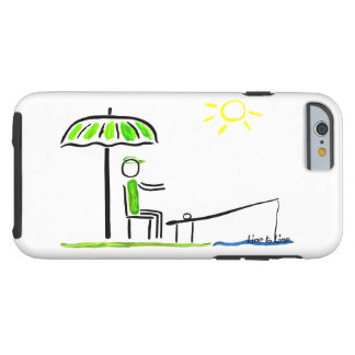 fisherman with a cup tough iPhone 6 case