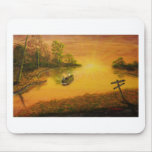 """""""Fisherman's Alley"""" by Jack Lepper Mouse Pad"""