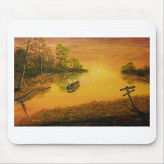 """Fisherman's Alley"" by Jack Lepper Mouse Pad"