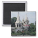 Fisherman's Bastion, Budapest, Hungary 2 Inch Square Magnet
