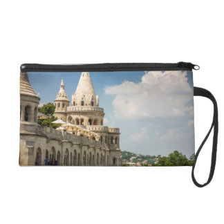 Fisherman's Bastion in Budapest, Hungary Wristlet Clutches