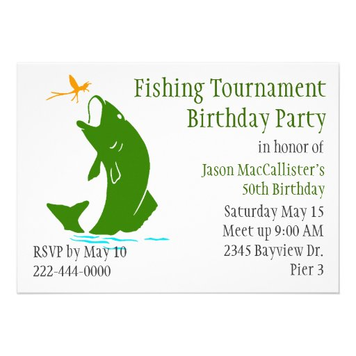 276 bass fishing invitations bass fishing announcements for Fishing birthday party invitations