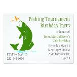 Fisherman's Birthday Party Invitation