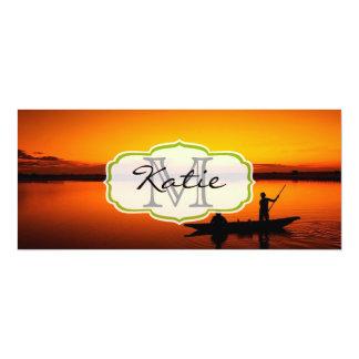 Fisherman's Boat at Sunset Card