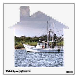 Fishermans Boat Wall Decal