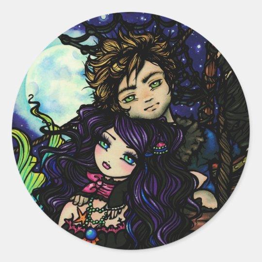 """Fisherman's Catch"" Mermaid Stickers"