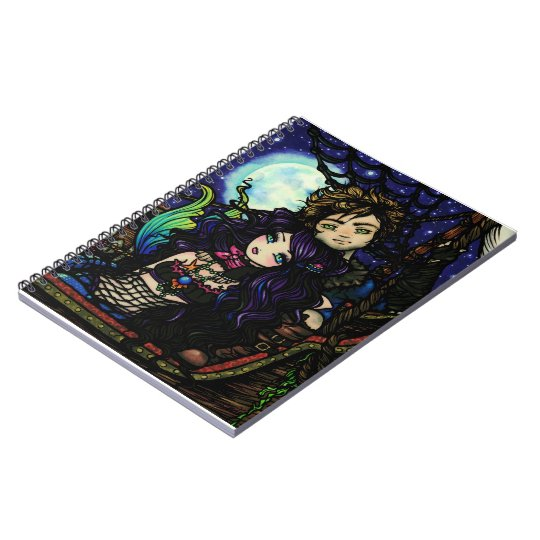 """Fisherman's Catch"" Pirate Mermaid Fantasy Art Notebook"