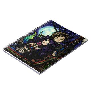 """Fisherman's Catch"" Pirate Mermaid Fantasy Art Spiral Notebook"