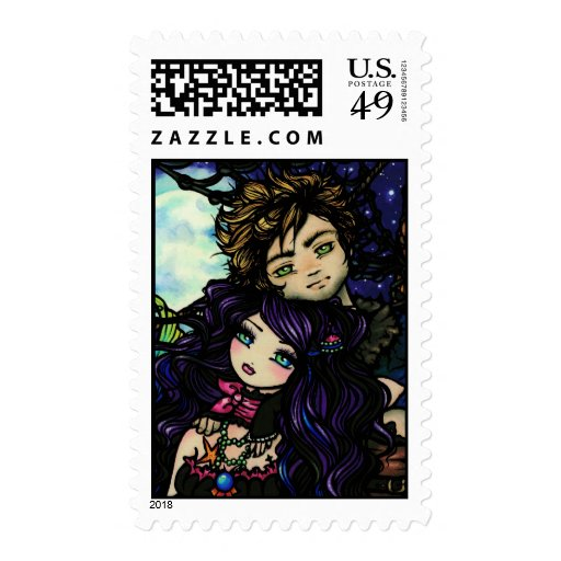 """Fisherman's Catch"" Pirate & Mermaid Stamps"