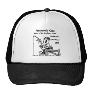 Fishermans Code black Trucker Hat