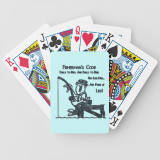 Fishermans Code green Bicycle Card Deck