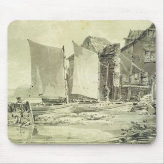 Fisherman's Cottage, Dover, 1790s (pencil & grey w Mouse Pad