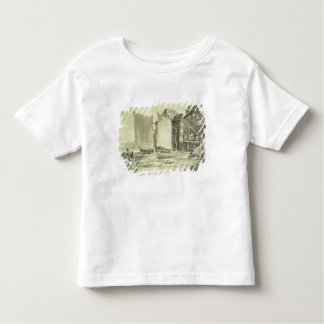Fisherman's Cottage, Dover, 1790s (pencil & grey w Toddler T-shirt