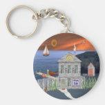 Fisherman's Cottage Keychain