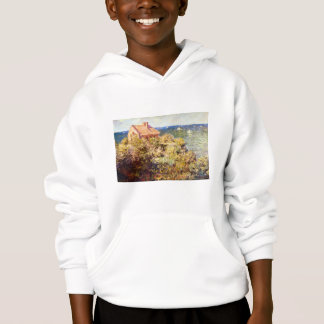 Fisherman's Cottage on a Cliff by Claude Monet Hoodie