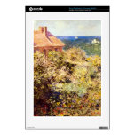 Fisherman's Cottage on a Cliff by Claude Monet Decal For PS3