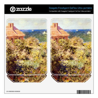 Fisherman's Cottage on a Cliff by Claude Monet FreeAgent GoFlex Skin