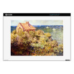 Fisherman's Cottage on a Cliff by Claude Monet Laptop Skins