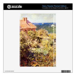 Fisherman's Cottage on a Cliff by Claude Monet Sony Reader Decals