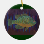Fisherman's Delight Double-Sided Ceramic Round Christmas Ornament