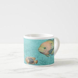 fishermans fishing mug 6 oz ceramic espresso cup