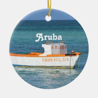 Fisherman's Hut Beach Ceramic Ornament