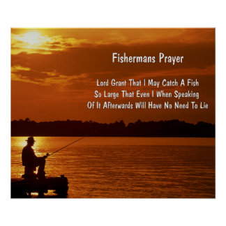 "Fisherman's Prayer Poster 24"" x 20"", Paper-Matte)"