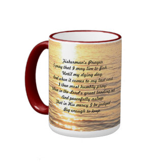 Fisherman's Prayer Ringer Coffee Mug