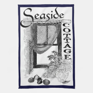 fishermans seaside cottage window kitchen towel