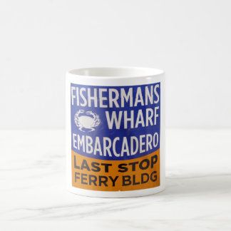Fishermans Wharf Municipal Railway Stop Classic White Coffee Mug