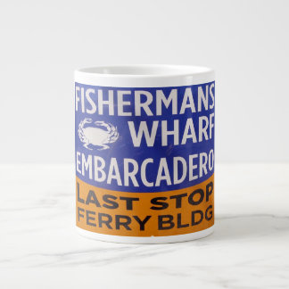 Fisherman's Wharf  Railway Last Stop Jumbo Mug