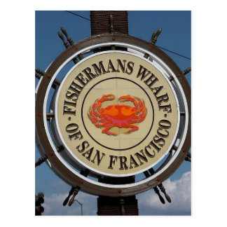 Fisherman's Wharf San Francisco Postcard