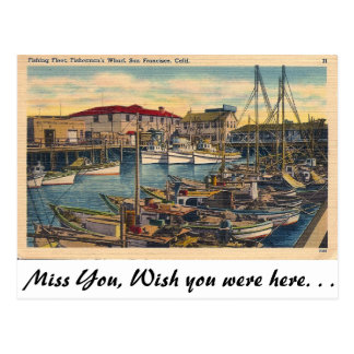 Fisherman's Wharf, San Francisco Postcard