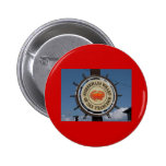 Fisherman's Wharf Sign 2 Inch Round Button