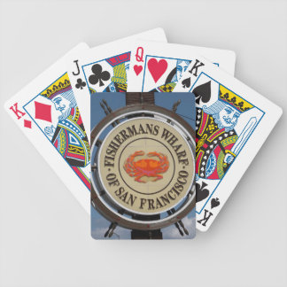 Fisherman's Wharf Sign Bicycle Playing Cards