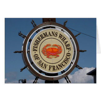 Fisherman's Wharf Sign Stationery Note Card