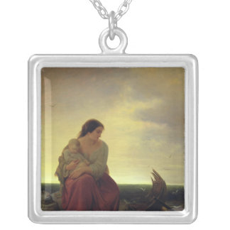 Fisherman's Wife Mourning on the Beach Pendant