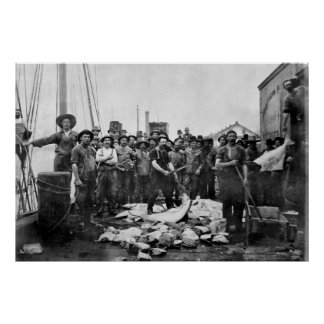 Fishermen 1888 Puget Sound - Washington Poster